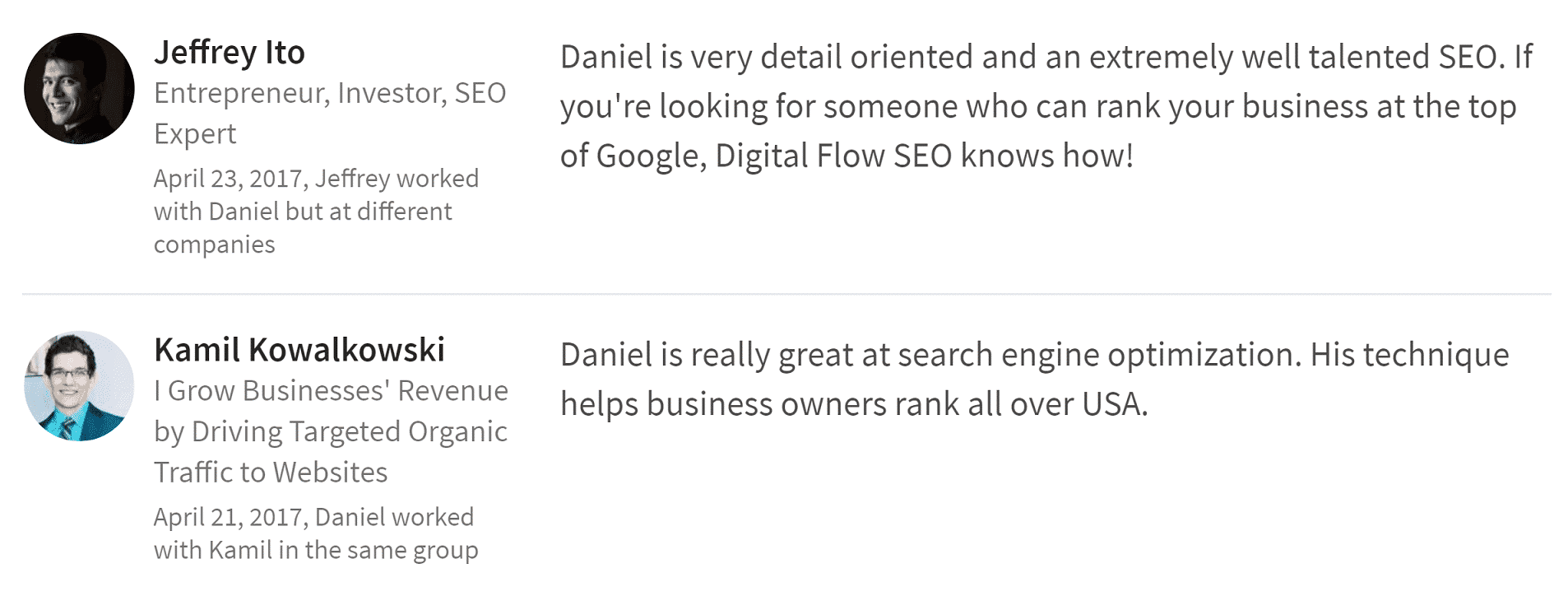 Daniel Bumba reference