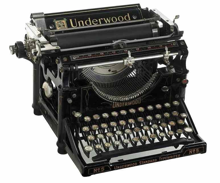 psací stroj znázorňující že copywriting je základní marketingový skill